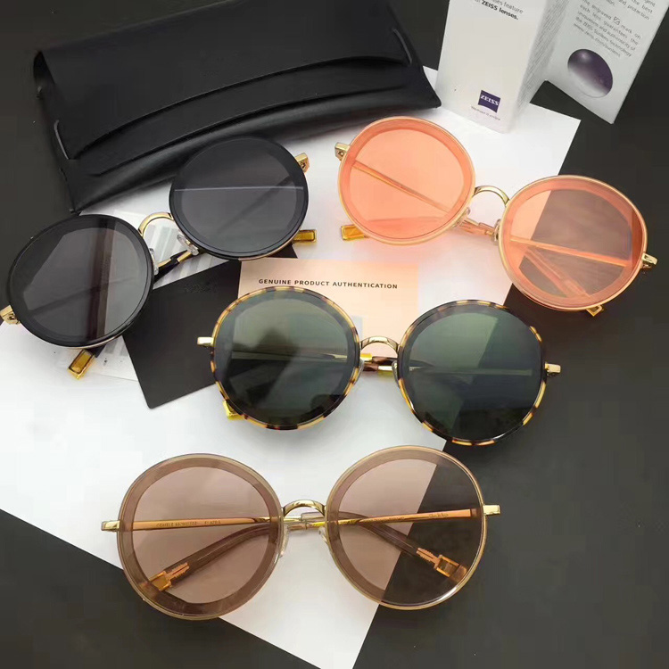 Gentlen Sunglasses The Whip Designer Ladies Round Multicolor Mirror Sun Glasses Vintage Style Female Oculos Sunglasses For Women