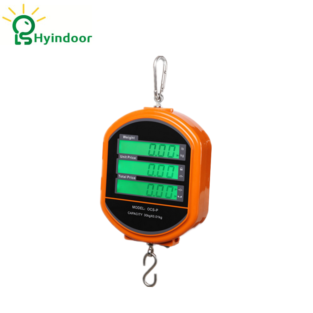 30kg Digital Price Computing Scales Hanging Hook Crane Scale Electronic Weighing Scales low price 2 t thickening folding car small crane engine hanger hanging manual hydraulic crane jack for sale