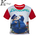 2017 New Summer  Boys Clothing Children T shirts Zootopia Clothes Girls Boys T-shirts Kids Short Sleeve Baby Children's Clothing