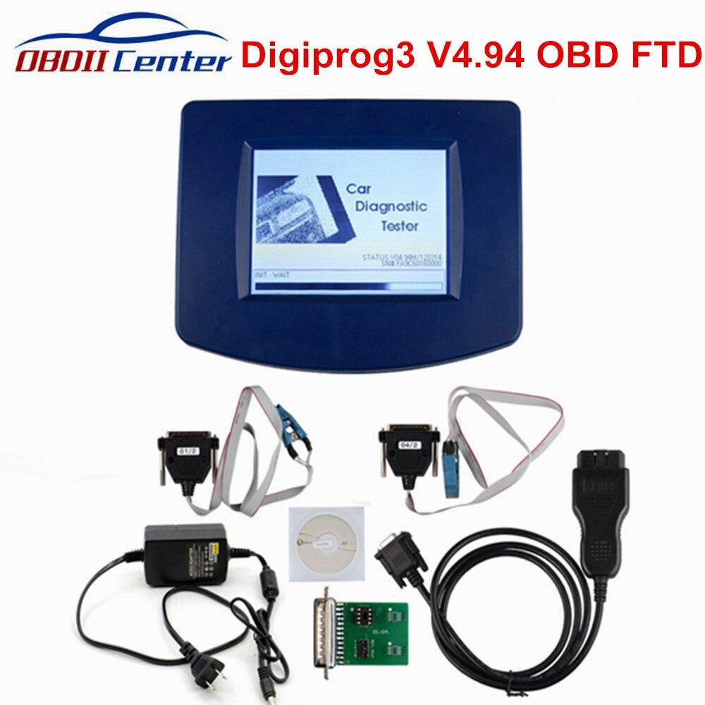 Nouveau DigiprogIII 4.94 Digiprog III unité principale FTDI Digiprog3 outil de Correction du kilométrage Digiprog 3 V4.94 ST01 ST04 OBDII OBD2 Version