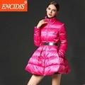 Falda Chaqueta de Invierno Mujeres Europa America Del Estilo Abajo Cubre 2016 nueva Mujeres Delgadas de la chaqueta Parka de Invierno Abrigos de Invierno Azul Rosa M341