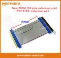 Бесплатные Корабль Новый 16X pcie удлинитель PCI-E16X провод-удлинитель 16X видеокарта удлинитель видеокарта 20 СМ патч шнур