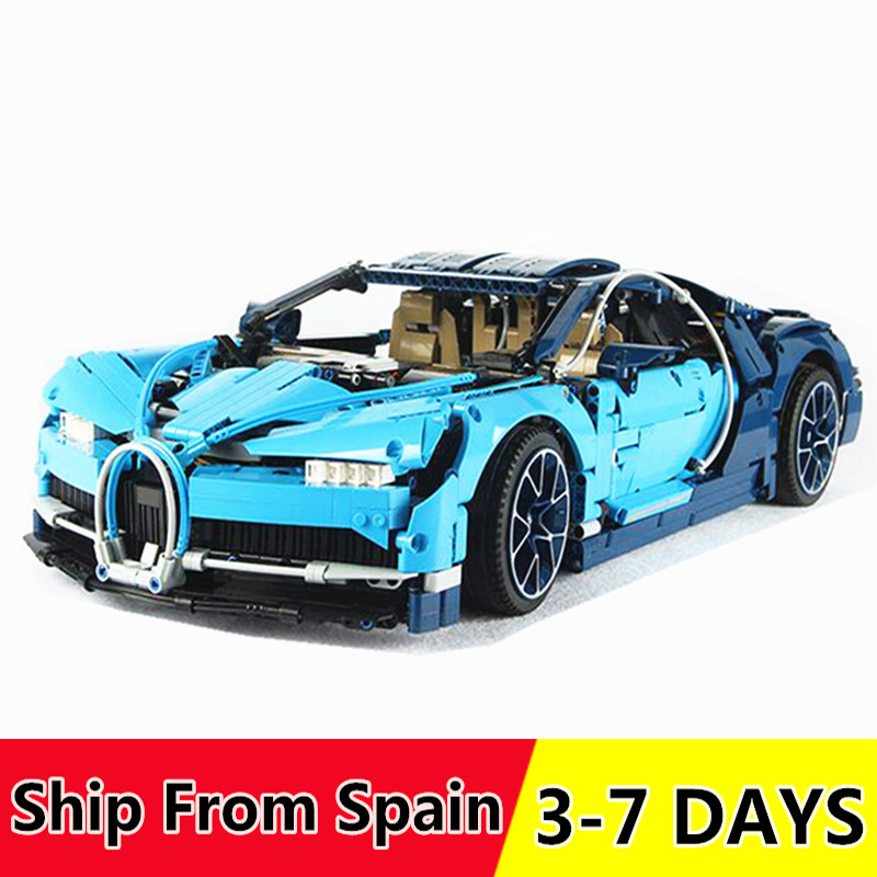 20086 20086C 20001 Technic Race Car Building Blocks Bricks Compatible 42083 42056 Christmas Gift bugatti Chiron(China)
