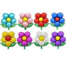 Kuchang 5 sztuk 55*58cm pięć liści kwiat łuk nadmuchiwane powietrza Globos w kształcie kwiatu z balonów foliowych pokój małżeństwo dekoracje na przyjęcie urodzinowe