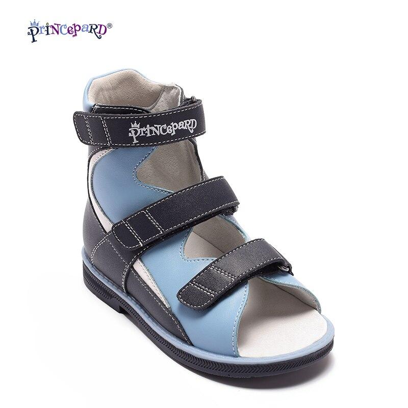 Princepard 2018 été enfants chaussures garçons sandales chaussures orthopédiques en cuir véritable bébé garçons sandales cool chaussures