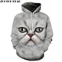 Funny Cat Hoodies Sweatshirts Men Women Tracksuit off white Hoodies 3d Fashion Coat Hooded Pullover Animal Drop Ship ZOOTOP BEAR