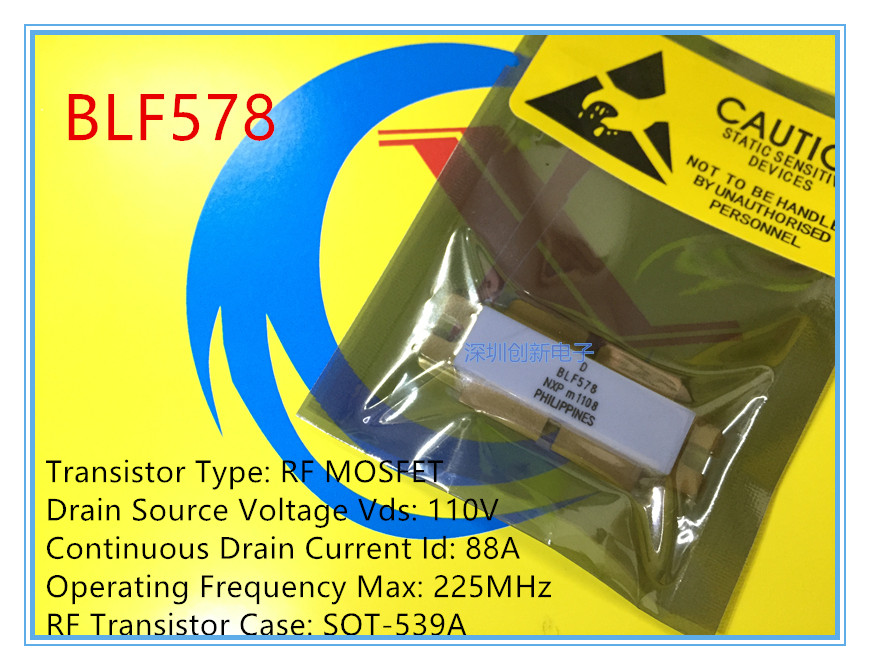 100% bonne qualité BLF578 BLF 578 magasin spécialisé dans la haute-fréquence micro-ondes tube RF tube tuyau absolument authentique