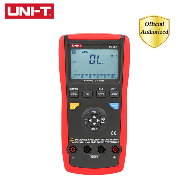 UNI T UT612 LCR Capacitance Meters USB Interface Frequency/Capacitor Test Data Storage/Analog Bar Graph/Relative Mode