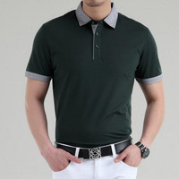 Luxury Brand High Quality Fake Designer Slim Fit Short Sleeve Polo Shirts For Men Replica Male Top Polo Clothes Wholesale Retail