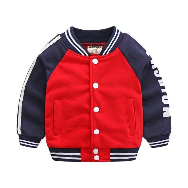 Sudadera niño niños ropa deportiva uniforme de béisbol ocasional de los bebés sudaderas prendas de vestir exteriores de primavera y otoño