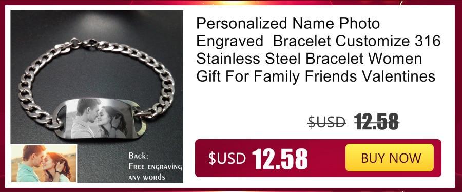 Grand Made Bracelet de mode grav/é Nom Bracelet Bijoux Femme Bracelet En Acier Inoxydable Personnalis/é Grav/é Souhaits Grav/é Cadeau Danniversaire Bijoux Femmes