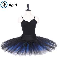 Взрослых черный синий половина балетная пачка для девочек балетная пачка профессиональное половина блин блюдо черный балетная пачка для