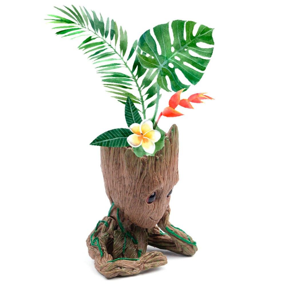 Half Body Stand Flower Pots Baby Groot Flowerpot Planter Action Figures Tree Man Cute Model Pen Pot Garden Flower Planter Toy 7
