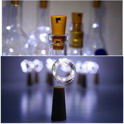 10 Pcs 20 Sangat Cerah Tahan Air Solar Botol Anggur Gabus Berbentuk String Lampu 10 LED Malam Lampu Peri Lampu untuk natal Party10