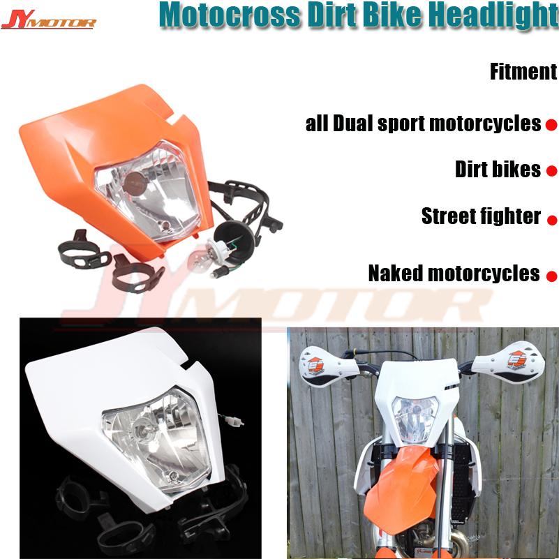 Motorcycle Universal Headlights Head Light Headlamp For 2017 KTM SX EXC XCF SXF SMR Motocross Enduro Dirt Bike