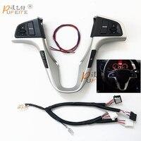 Автомобиль многофункциональный руль кнопка для Hyundai Verna Solaris руль громкости музыки кнопки управления коммутатором