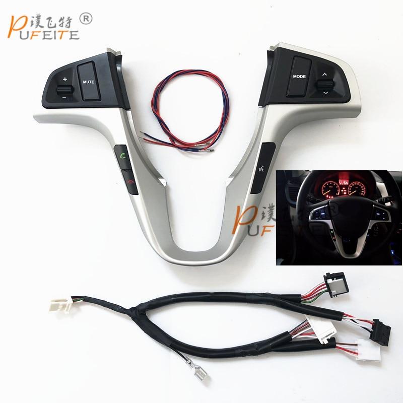 Auto multifunktions lenkrad taste Für Hyundai VERNA SOLARIS lenkrad audio volumen musiksteuerung taste schalter