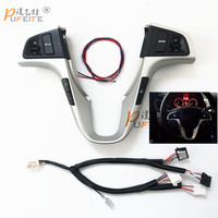 Car Multifunction Steering Wheel Button For Hyundai VERNA SOLARIS Steering Wheel Audio Volume Music Control Button