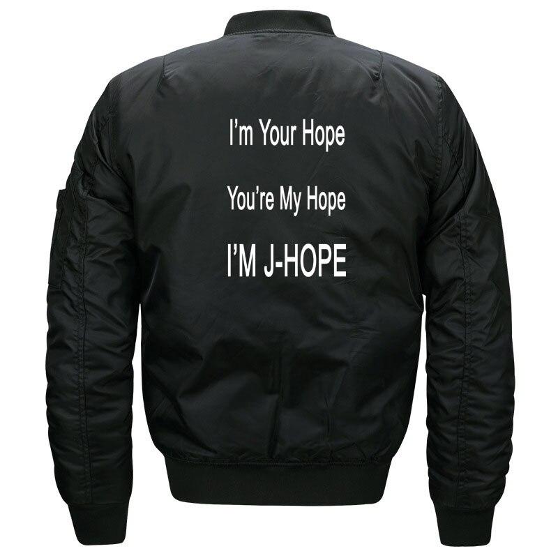 Kawaii Kpop BTS JHope Fans Bomber Jacket for Women and Men Cute Girls Korean Band Bangtan Boys J Hope Jackets Oversized S-5XL