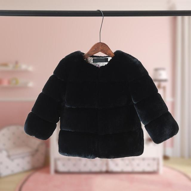 2018 New Autumn Winter Coat Children Artificial Fox Fur Coat Boy Girl Warm Hair Thickness Girls Jacket Children's Windbreakers