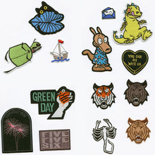 DOUBLEHEE Lovely Cartoon Nature Animal Patchwork Iron On Patch Embroidered Patches For Clothing Close Shoes Bags Badges