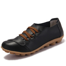 women genuine leather shoes women flats causal nurse shoes woman round toe flexible driving walking loafer women shoes