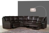 Real lederen bankstel woonkamer sofa sectionele/hoekbank set meubelen banken functionele hoofdsteun U vorm recliner