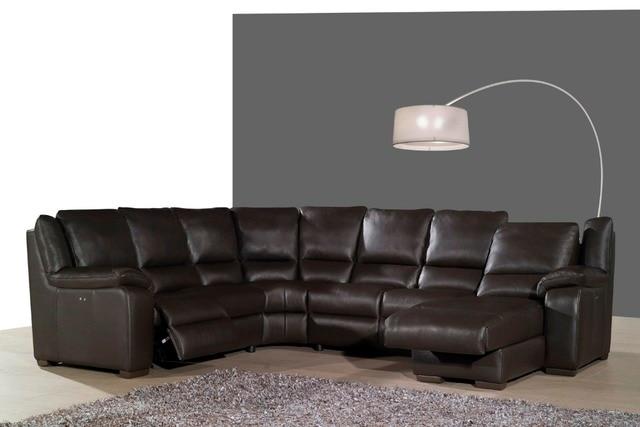 Real lederen bankstel woonkamer sofa sectionele hoekbank set