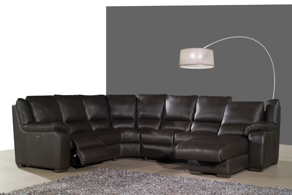 real leather sofa set living room sofa sectional/corner sofa set home furniture couches functional headrest U shape recliner morden sofa leather corner sofa livingroom furniture corner sofa factory export wholesale c59