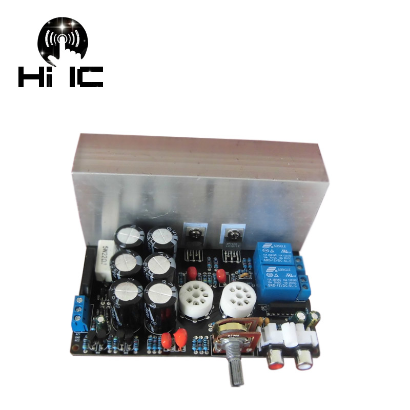 HIFI LM1875T Stereo Tube Amplifiers Audio Board Amplificador Pre Amp 6J1 Valve Preamp Bile Buffer Electron 30W Dual AC12 18V-in Amplifier from Consumer Electronics    3