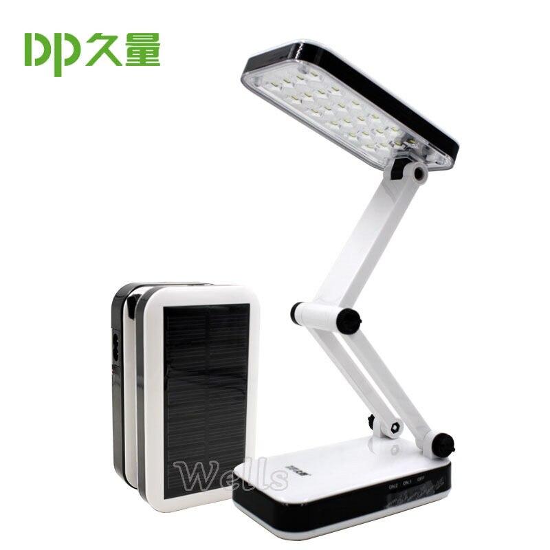 Image 3 - Lámpara de mesa led, batería Solar, recargable, plegable y ajustable, lámparas de escritorio con 24 LEDs, lámpara de carga de luz solar de lectura, AC220VLámparas LED de escritorio   -