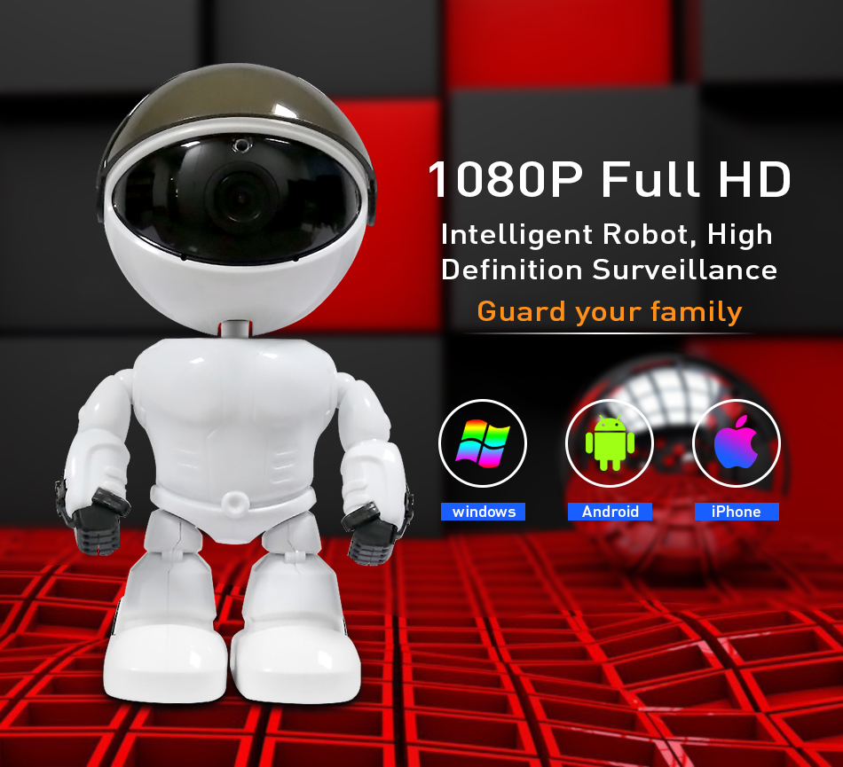 Hiseeu 2MP HD Wireless IP Wifi 1080P Robot Camera 6