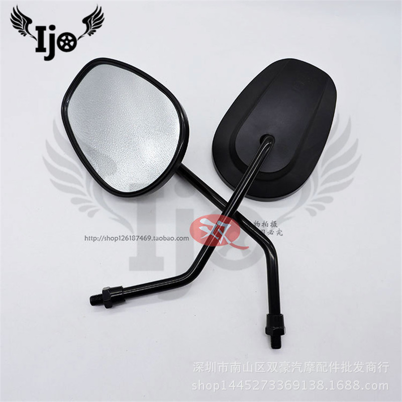 big size black universal 10MM 8MM moto parts motorbike side mirror for harley mirrors prince cruise motorcycle rearview mirror