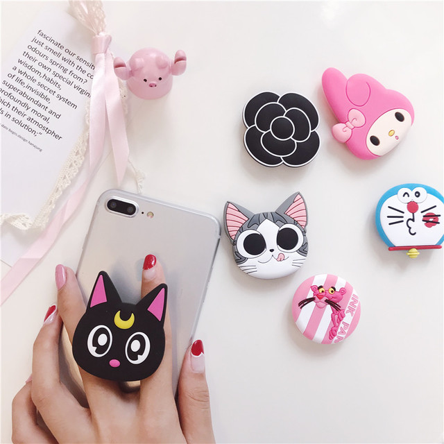 Popular Cartoon Luna cat Stitch holder for iphone Samsung Huawei Universal Expanding stand and animals Grip holder stretch Cute