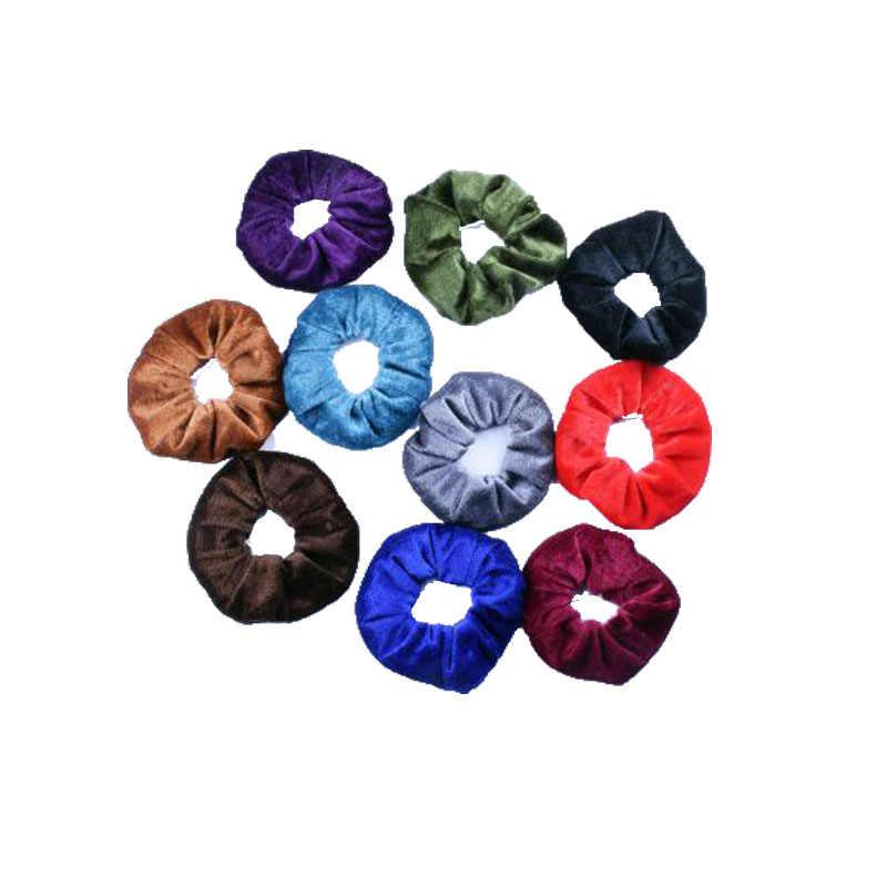 1 pcs/ms. Корейские, высокого качества ткань золото бархат пучок волос повязка для головы канатная Резиновая лента Женские аксессуары для волос