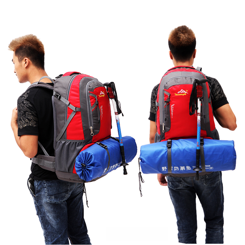 Waterproof Men'S Backpack 60L Softback Travel Backpack Travel Bag Large Backpack Camping Bag Waterproof Men'S Bags Schoolbag 0