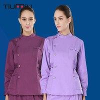 5 Color Russian Hospital Uniform Women Men Medical Set Nursing Scrubs Dental Clinic Beauty Salon Doctor Nurse Surgical Work Wear