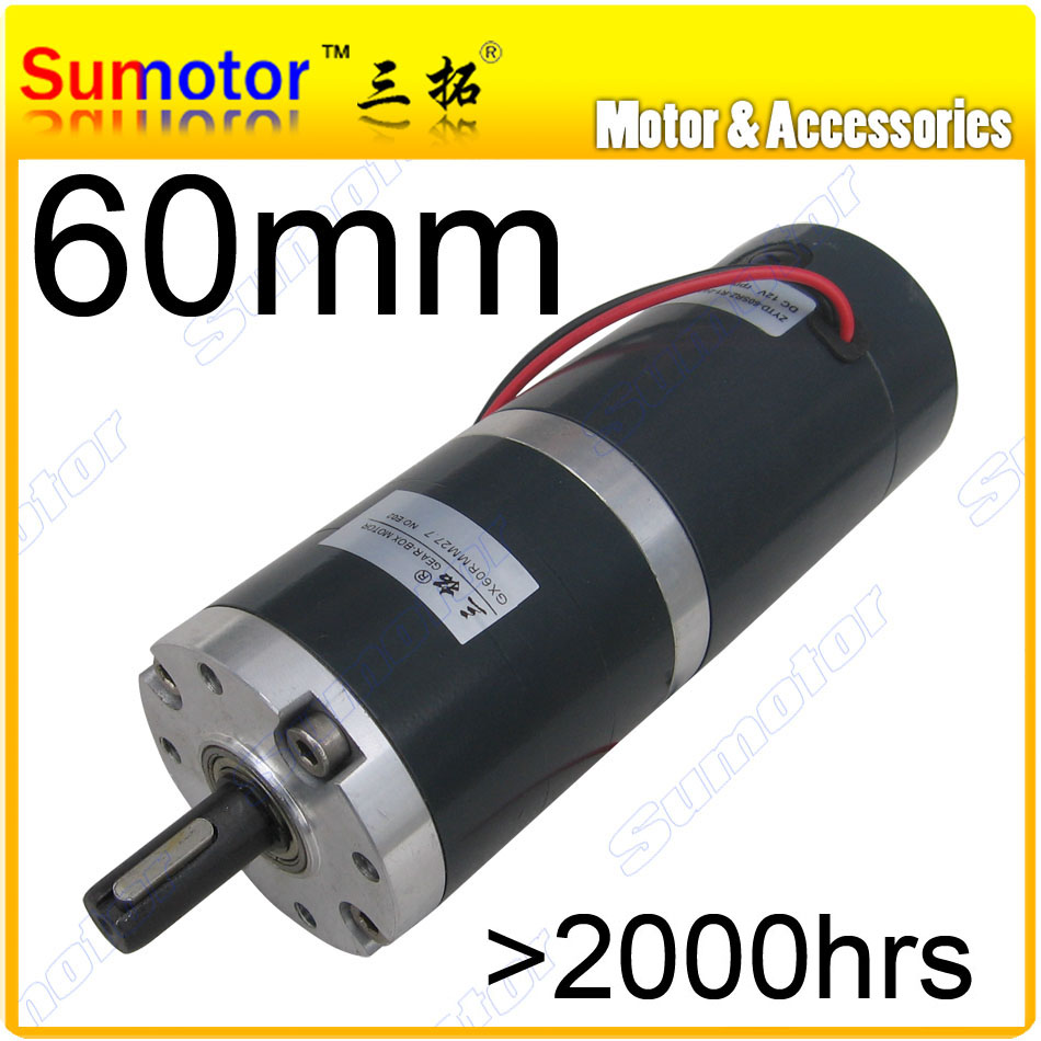 Gx60 dia 60mm 12v 24v low rpm dc planetary gear motor high for Low rpm motor dc