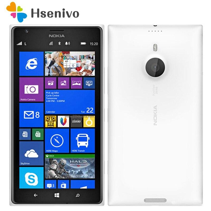 1520 Original Unlocked Nokia Lumia 1520 mobile Phone 20.0MP 6.0 inch TouchScreen Quad Core 16GB Windows OS Free Shipping