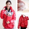 Одежда для удобные пуховики сгущает потепление по беременности и родам и для беременных женщин пуховики 2 в 1 использование