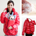 Maternity clothes comfortable Down Jackets thicken warming maternity coat and for  pregnant Women down jackets 2 in 1 use