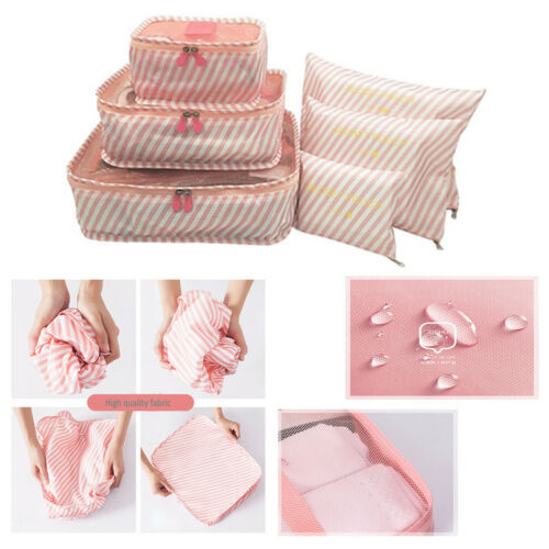 Bags Packing-Cube Folding-Bag Travel Large-Capacity Of 6pieces-Set Clothing Sorting Durable