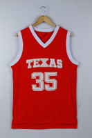 Texas Longhorns Kevin Durant 35 College Basketball Throwback Jersey Burnt Orange Retro Throwback Stitched Embroidery Jerseys