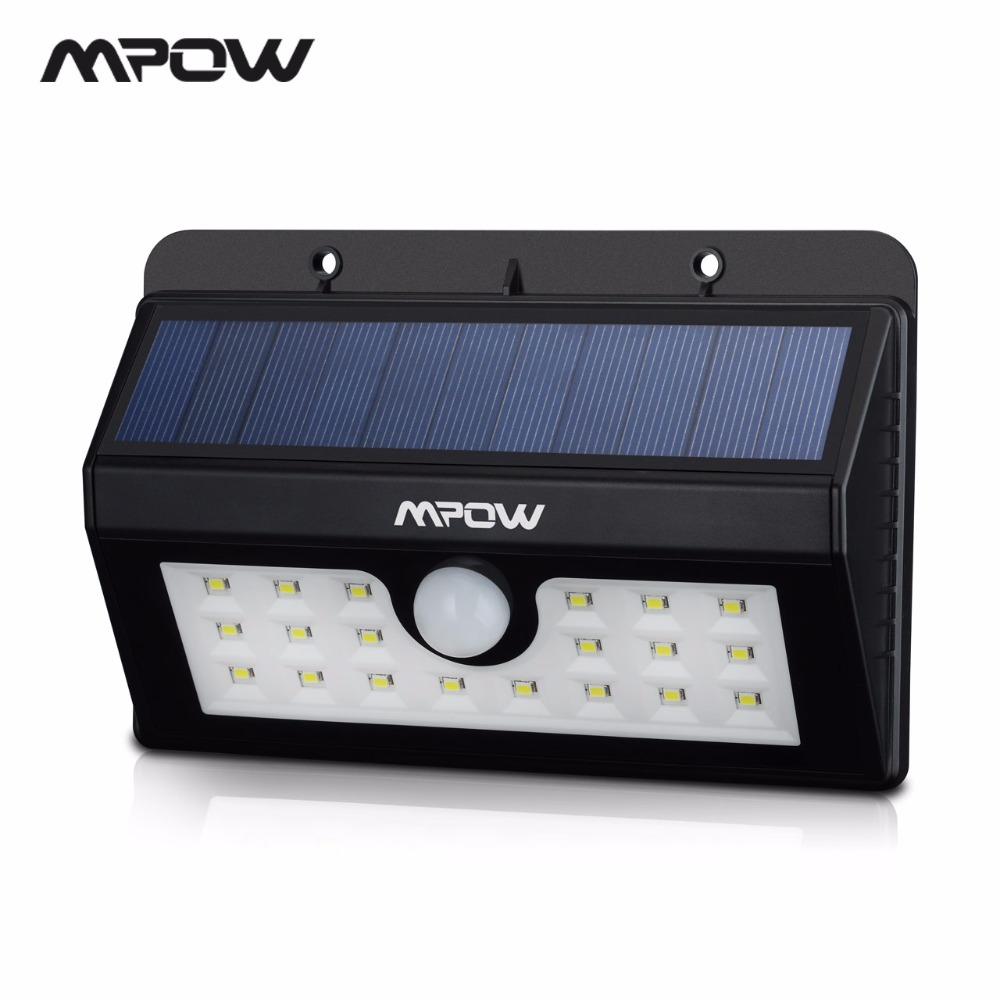 Mpow Msl7 Super Bright Solar Light 20 Led Security Motion Sensor Weatherproof With 3 Intelligent Modes For Outdoor Doorway In Lamps From Lights