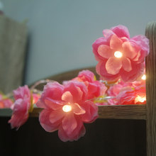 DIY handmade floral LED String Light, AA Battery holiday string lighting, Event Party garland decoration,vase flower arrangement(China)