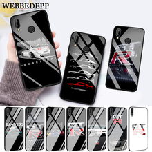 WEBBEDEPP NISSAN GTR Glass Case for Huawei P10 lite P20 Pro P30 P Smart honor 7A 8X 9 10 Y6 Mate 20