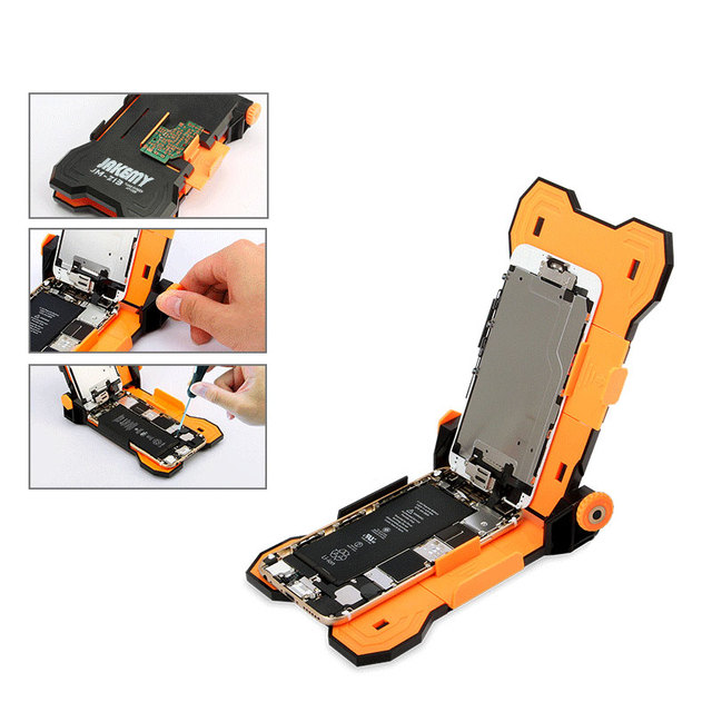 US $10 93 5% OFF|Jakemy JM Z13 Adjustable Fixed Screen Repair Holder for  iPhone 6s 6 Plus Teardown Work Fixture & PCB Holder Clamp-in Hand Tool Sets