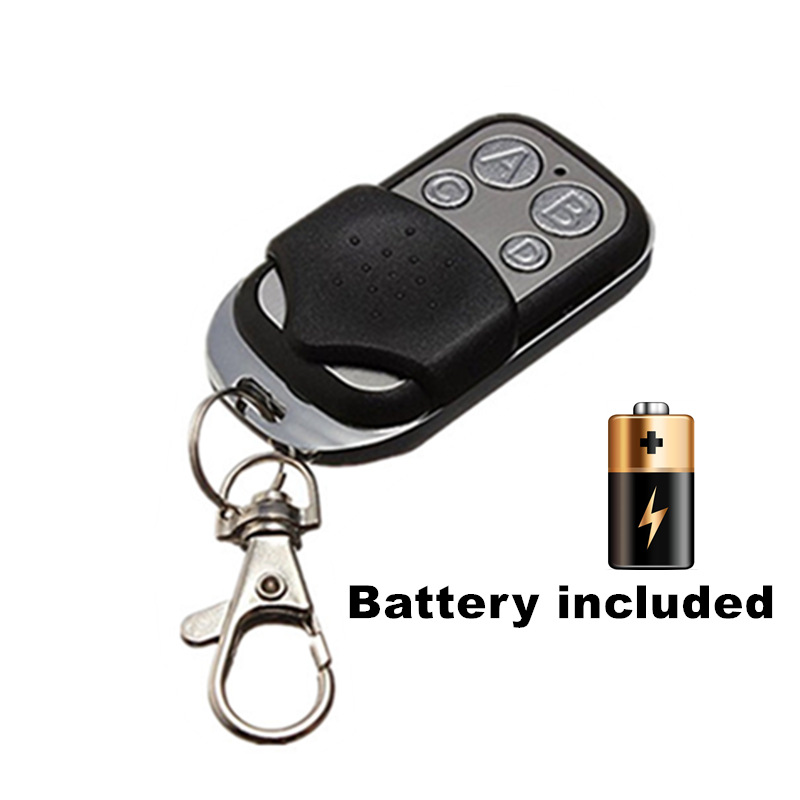US $5 6 |433 mhz RF Remote Control Copy code cloning Electric gate  duplicator Key Fob learning garage door controller included Battery-in  Remote