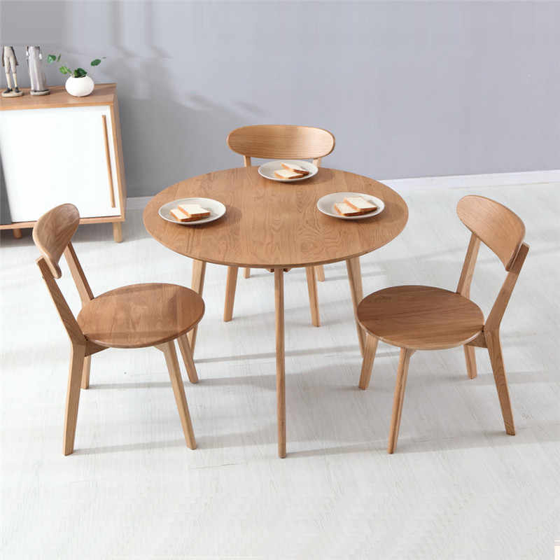 Dining Tables Dining Room Furniture Home Furniture oak solid wood round  kitchen table coffee table minimalist 91.5 *91.5*75cm