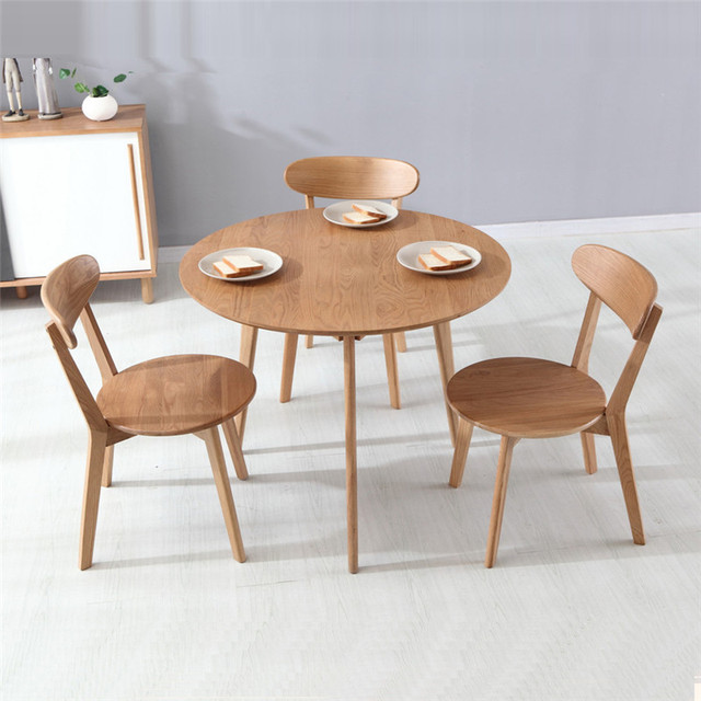 Dining Tables Dining Room Furniture Home Furniture Oak Solid Wood - Solid wood round kitchen table and chairs
